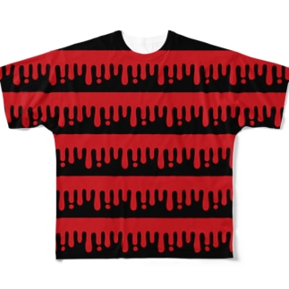 melty border(B/red×black) Full graphic T-shirts
