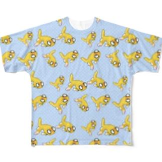 金魚の頂天眼ちゃん Full graphic T-shirts