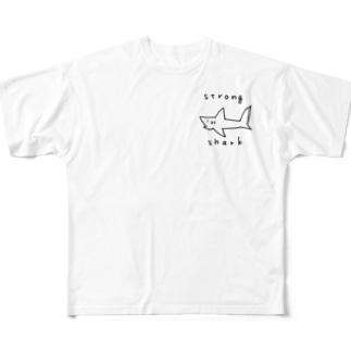 強いサメ! All-Over Print T-Shirt