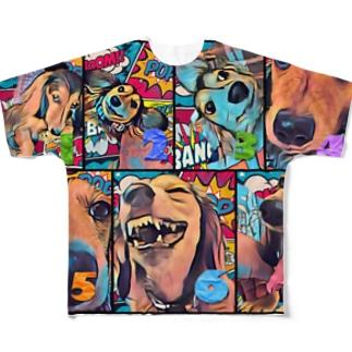 ナッツン Full graphic T-shirts