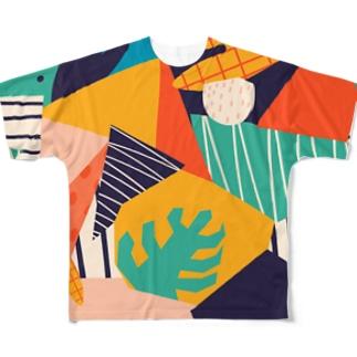 モダンアートな世界B。 Full graphic T-shirts