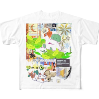 304★月山いつこ作品●雪空■緑の2 Full graphic T-shirts