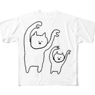 ただのねこ太郎 Full graphic T-shirts