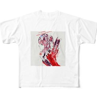 赤天使ちゃん Full graphic T-shirts