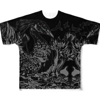 黒孔雀 Full graphic T-shirts