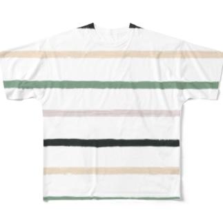 ノスタルジック横線。 Full graphic T-shirts