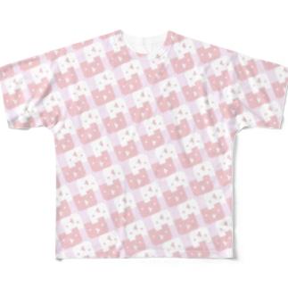 ドットルックマ大量発生(フェアリータイプ) Full graphic T-shirts