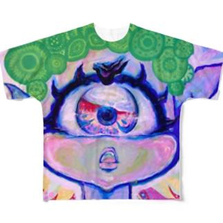 uniちゃん「天命回転図」フルグラTシャツ Full graphic T-shirts