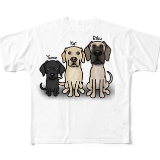 ニコニコリフォームカイリクユメ Full graphic T-shirts