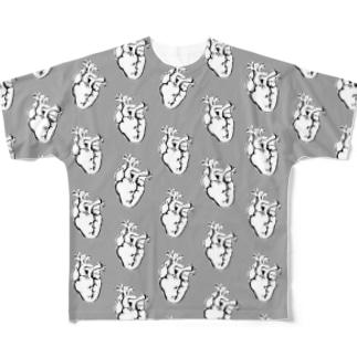 HEART Full graphic T-shirts