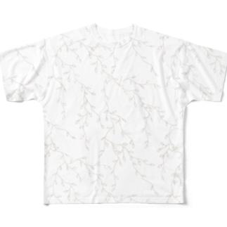 絡みつくPINK GOLDの蔦。 Full graphic T-shirts