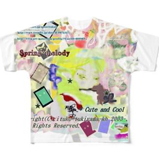 311★月山いつこ作品●雪虎■宝珠 rde2 Full graphic T-shirts