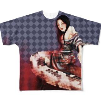 清姫 Full graphic T-shirts