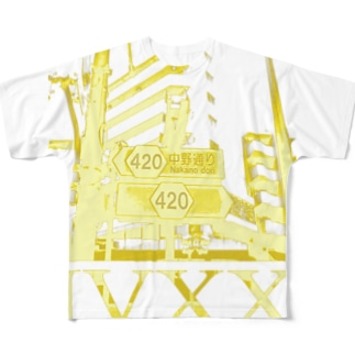 中野通り420 Full graphic T-shirts