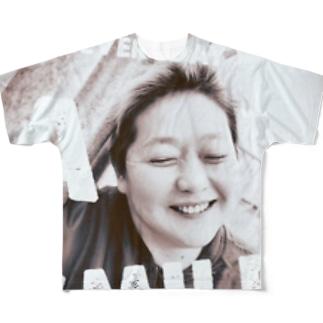 毎日笑顔で送って!グッズ Full graphic T-shirts