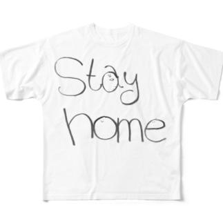 家にいよう(英語版) Full graphic T-shirts