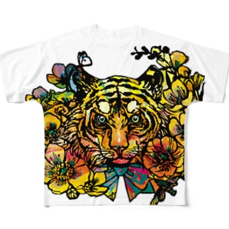 黄金の旋風:白生地 Full graphic T-shirts