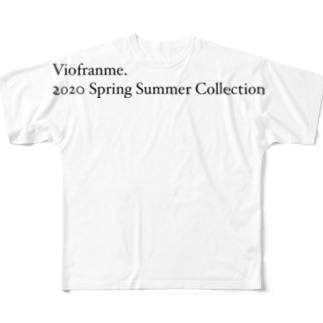 Viofranme. 2020 Spring Summer Collection Full graphic T-shirts