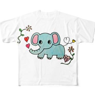 恋するゾーさん Full graphic T-shirts
