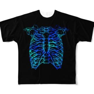 肋骨と脊柱 Full graphic T-shirts