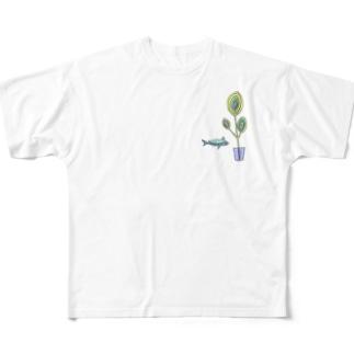 リーフサイダーのゆめ Full graphic T-shirts