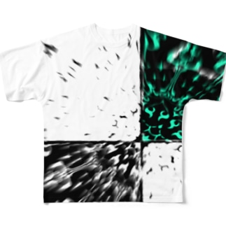 破裂 ー緑ー Full graphic T-shirts