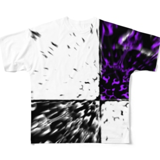破裂 ー紫ー Full graphic T-shirts