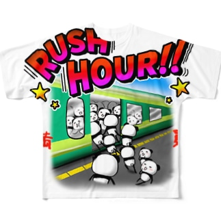 満員ラッシュアワー Full graphic T-shirts