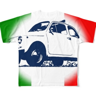 FIAT500 Full graphic T-shirts