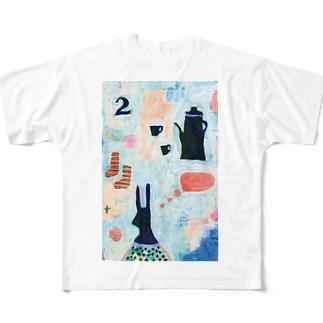 usa girl Full graphic T-shirts