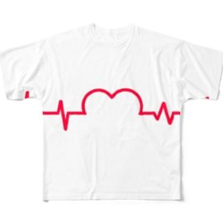 ズッキュン Full graphic T-shirts