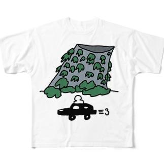 新宿にある、遺跡みたいな換気塔 Full graphic T-shirts