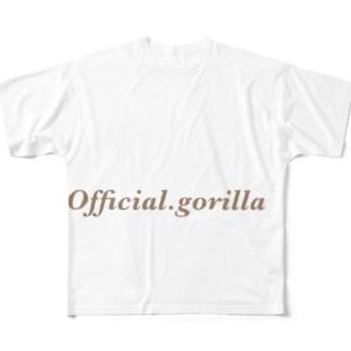 Official-gorillaのOfficial gorilla Full graphic T-shirts