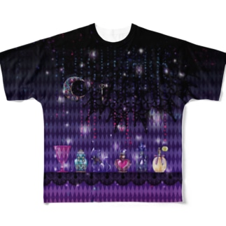 魔法使いの香水瓶 Full graphic T-shirts