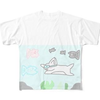 新しい友達 改 Full graphic T-shirts