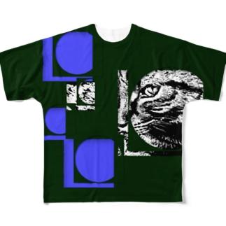 1枚限定デザイン! JOYFUL x JOYFUL No.a3 蒼漆 Full graphic T-shirts