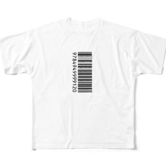 ITANJIのバーコード Full graphic T-shirts