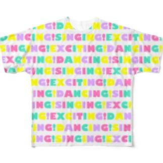 総ロゴ 濃いめパステル フルグラフィックTシャツ