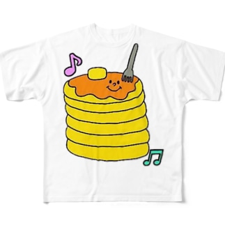 パンケーキたん フルグラフィックTシャツ