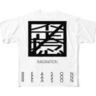 〼MAD〼 黒/DB_15 Full graphic T-shirts
