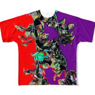 つるバラ Full graphic T-shirts