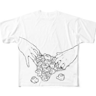 ぶちまけにちこさま Full graphic T-shirts