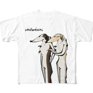 ボルゾイ ランウェイ(両面プリント) Full graphic T-shirts