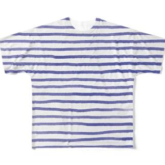 しましま Full graphic T-shirts