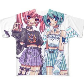 天使はしんだ 悪魔がくる Full graphic T-shirts