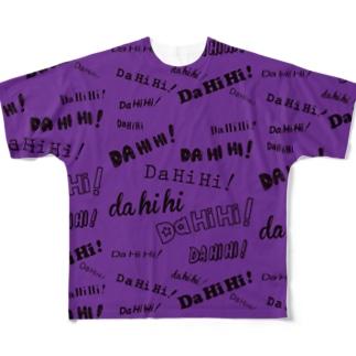 DAHIHI∞purple Full graphic T-shirts