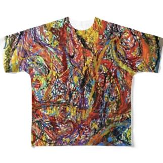 村田高詩の絵 Full graphic T-shirts
