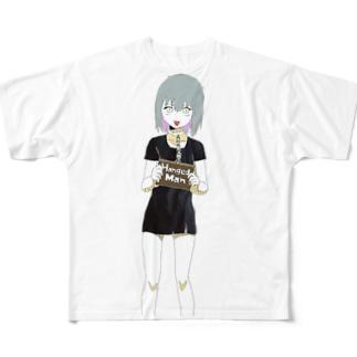ハングドマンTシャツ Full graphic T-shirts