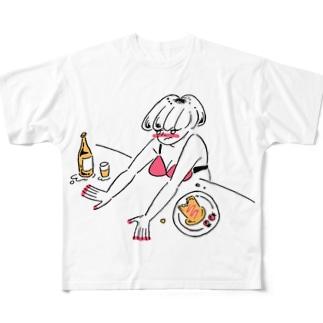 kameの水着ギャル Full graphic T-shirts