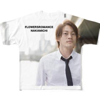株式会社フラワーズロマンスのシャチョウナカミチグッズ Full graphic T-shirts